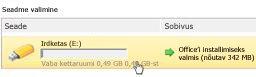 Microsoft Office Starteri kiirversiooniga seadmete haldur