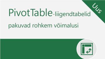 Kasutage kõiki PivotTable-liigendtabelite võimalusi