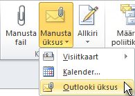 """Lindi käsk """"Manusta Outlooki üksus"""""""