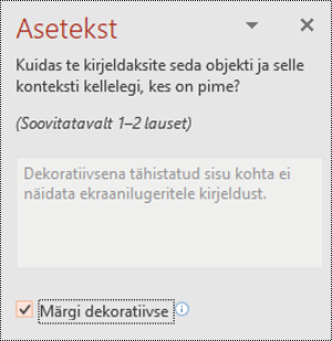 Märgi dekoratiivse ruut rakenduses PowerPoint for Windows
