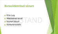 """Vesimärgi näide: PowerPointi slaidi taustale lisatud sõna """"MUSTAND""""."""