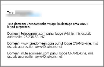 Lehel Wix.com kasutage neid DNS-i kirjete sätteid