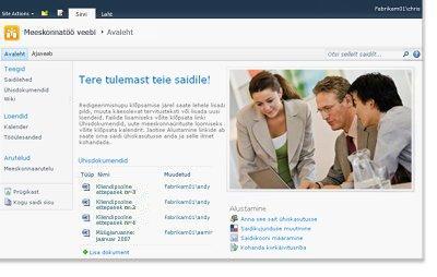 SharePointi meeskonnatöö veebisait