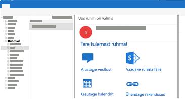 Outlook for Macis rühmavestluste kuvamine, lugemine ja neile vastamine