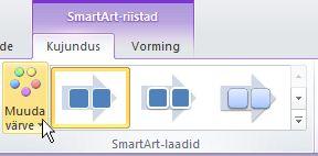 SmartArt-pildi värvide muutmine