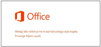 Probleem teie Microsofti kontole sisselogimisega