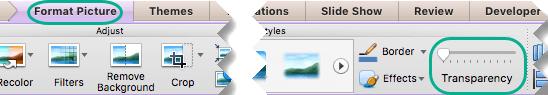 Piltide liugur piltidele on menüüs pildi vormindamine, kui slaidil on valitud pilt