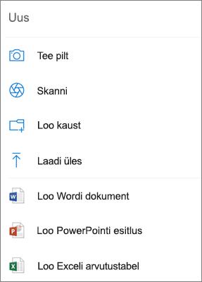 OneDrive'i üleslaadimine