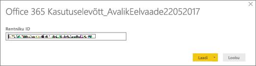 PBIT-faili avamiseks sisestage oma rentniku ID