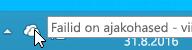 Kuvatõmmis, mis kujutab valget OneDrive'i ikooni opsüsteemis Windows 8.1.