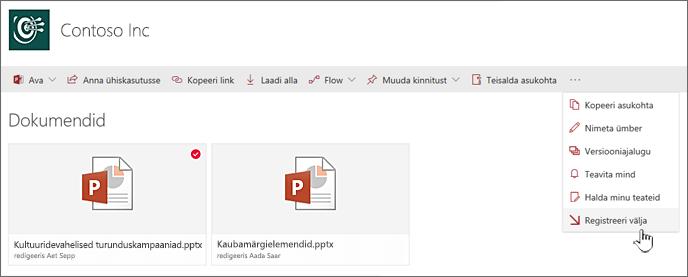 Valige soovitud faili, klõpsake ülemisel ribal olevaid ellipseid ja valige Mölli välja
