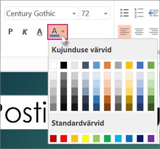 Teksti värvi valimine