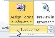 InfoPathi loendivormid SharePointi jaoks