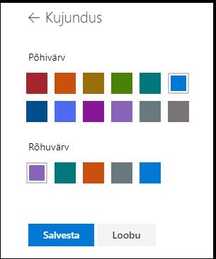 SharePointi saidi kujunduse värvide kohandamine