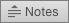 Kuvatud on PowerPoint 2016 for Maci nupp Märkmed