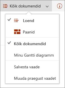 Microsoft Edge'i menüü Vaated