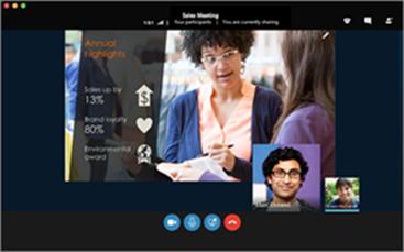 Skype'i ärirakenduse koosoleku Mac-arvutisse