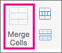 On the Layout tab, select Merge Cells