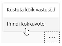 Kokkuvõte suvand Microsoft Forms printimine