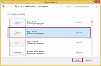Opsüsteemi Windows 8 rakenduse Office 2016 uus sisestusmeetod