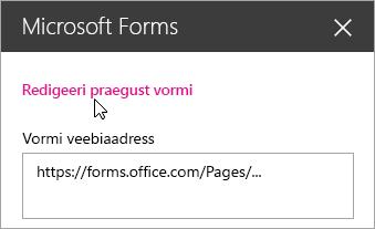 Olemasoleva vormi korral saate Microsoft Formsi veebiosa paanil praegust vormi redigeerida.