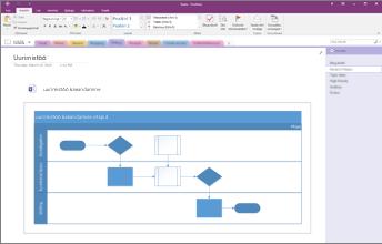 Kuvatõmmis rakendusse OneNote 2016 manustatud Visio diagrammist.