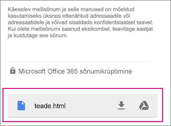 OME Sõnumivaatur Gmailiga Androidi 1