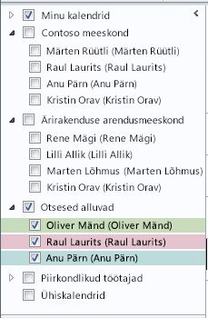 Calendar Groups in the Navigation Pane