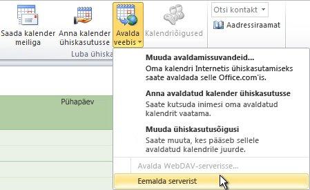 Käsk Eemalda serverist