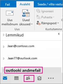 Outlook paneb teie PST-failile üldnime – Outlooki andmefail.