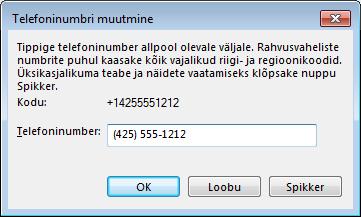Rahvusvahelises numbrivalimisvormingus Lynci telefoninumbri näide
