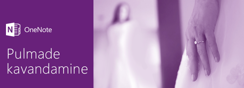 Plan a wedding with OneNote
