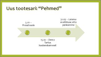 Tavalise ajaskaaladiagrammi näide
