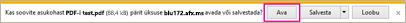 PDF-i avamine
