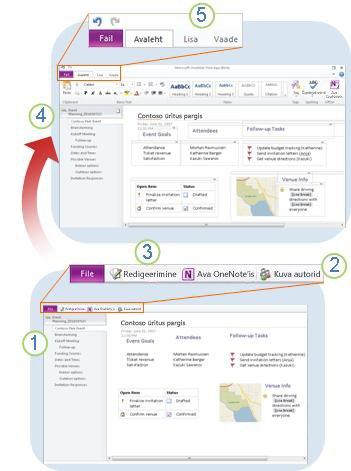 Rakenduse OneNote Web App ülevaade