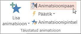 Animatsioonipaani avamine