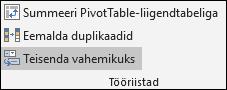 Exceli tabeli tagasi teisendamine vahemikuks