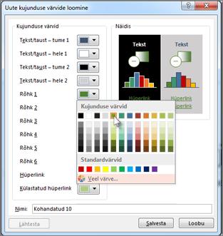 Kujunduse värvi muutmine
