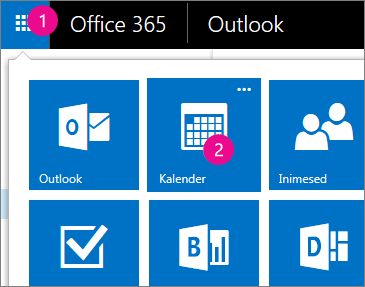 Outlook Web Appi, avage oma kalender