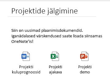 Manustatud failid lehel rakenduses OneNote Windows 10 jaoks