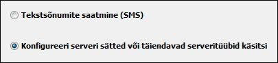 Rakenduses Outlook 2010 serverisätete käsitsi konfigureerimine