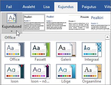 Office 365 Wordi kujundused