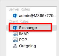 Exchange'i kliendi reeglid