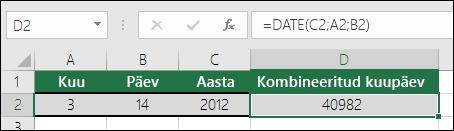 2. näide funktsiooni DATE kohta