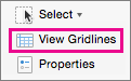 On the Layout tab, select View Gridlines