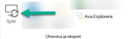 Suvand Sünkrooni on SharePointi lindil, mis asub ainult vasakpoolses rakenduses Explorer.