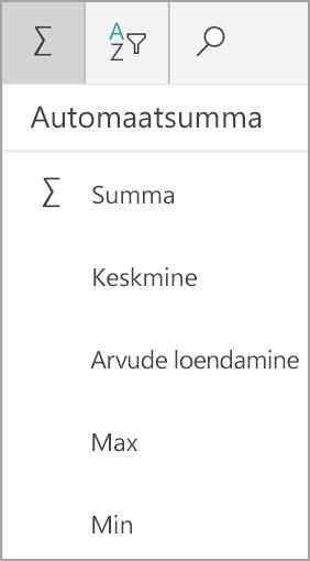 Summa Excel Windowsi tahvelarvuti jaoks