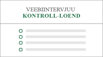 Töökohale kandideerimise avalduse kontroll-loendi kujutav pilt