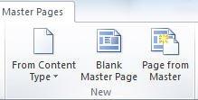 Lehtede lisamine rakenduses SharePoint Designer 2010