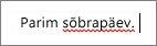 Word märgib võimaliku õigekirjaveaga sõna